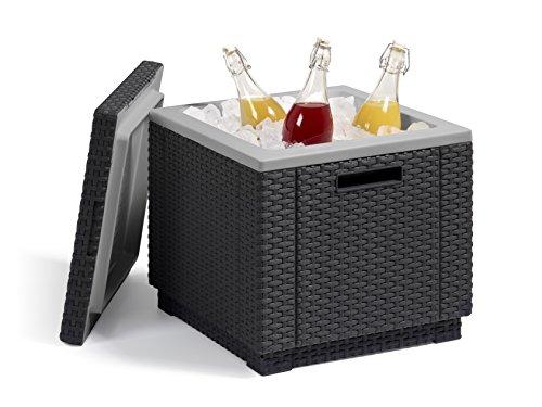 Allibert Beistelltisch/Kühlbox Ice Cube 40 Liter, graphit