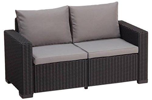 Allibert Lounge Sofa California 2 Sitzer graphitpanama cool grey 500x330 - Allibert Lounge Sofa California 2-Sitzer, graphit/panama cool grey