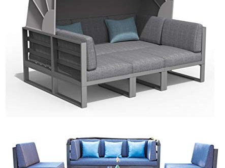 Haberkorn Garten ALU Lounge Set Besimi Liege Sitzgruppe Bank mit Dach 443x330 - Haberkorn-Garten ALU Lounge Set Besimi Liege Sitzgruppe Bank mit Dach total flexibel
