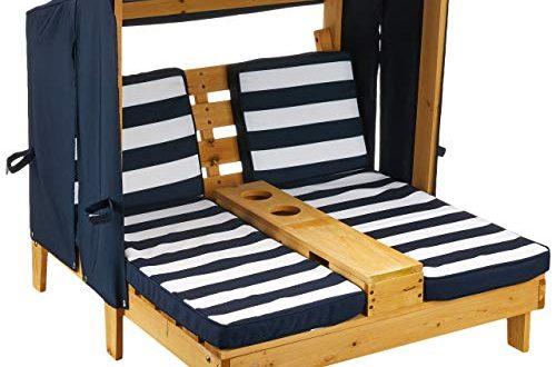 KidKraft 00524 Doppelte Sonnenliege mit Getraenkehaltern Doppelliege Chaiselongue aus Holz 500x330 - KidKraft 00524 Doppelte Sonnenliege mit Getränkehaltern Doppelliege, Chaiselongue aus Holz, Honigfarben