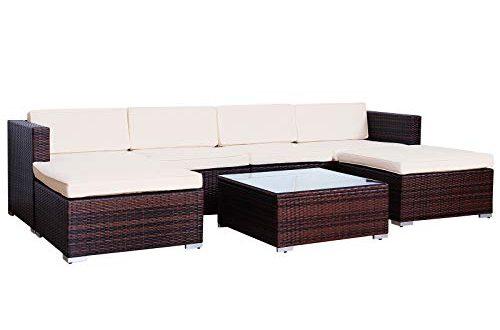 SVITA Lugano Poly Rattan Lounge Garten Set XXL Sofa Set Garnitur Gartenmoebel 500x330 - SVITA Lugano Poly Rattan Lounge Garten-Set XXL Sofa-Set Garnitur Gartenmöbel Couch-Set (XXL, Braun)
