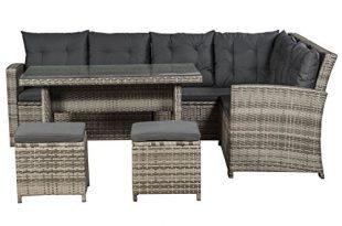 ArtLife Polyrattan Sitzgruppe Lounge Santa Catalina beige grau dunkelgraue Bezuege 310x205 - ArtLife Polyrattan Sitzgruppe Lounge Santa Catalina beige-grau | dunkelgraue Bezüge | Gartenmöbel-Set mit Ecksofa, Hocker & Tisch