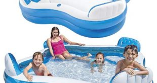 Intex 56475NP Aufblasbares Swim Center Family Lounge 90 x 310x165 - Intex 56475NP - Aufblasbares Swim Center Family Lounge, 90 x 90 x 26 Zoll