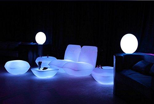 Gowe Vondom Kissen, wasserfest, mit LED-Beleuchtung, für Wohnzimmer, Pool, Garten, Bar, Terrasse etc.